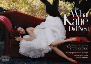 Harpers Bazaar 2008 What Katie did next