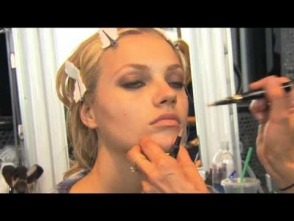 Lisa Butler makeup backstage Jimmy Choo