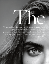 Cara Delevinge shot by Alasdair McLellan